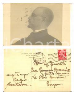 1930 ROMA Ritratto di Rodolfo VILLANI - Foto cartolina RARA AUTOGRAFO FP VG