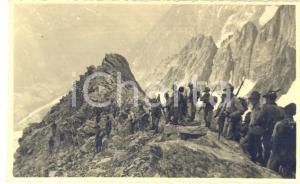 1937 COURMAYEUR Rifugio TORINO - Alpini discendono il Colle del Gigante *Foto
