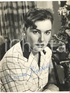 1960 ca FOTOROMANZI Attrice Feliciana TOCCHETTO *Foto seriale con autografo 8x15