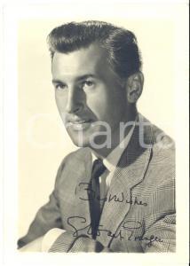 1955 ca CINEMA Attore Stewart GRANGER - Foto seriale con AUTOGRAFO 9x13 cm