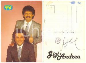 1980 ca GIGI E ANDREA Cartolina TV Sorrisi e Canzoni - AUTOGRAFO FG