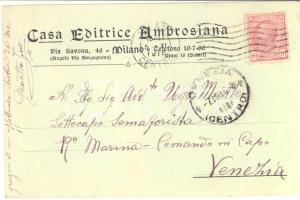 1916 MILANO Casa Editrice AMBROSIANA - Cartolina intestata - FP VG