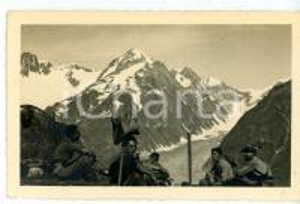 1937 COLLE DI TOULA Pausa di un gruppo di Alpini in esercitazione - Foto 14x9