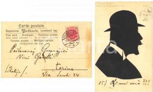 1905 WIEN Cartolina collage Nicolò NARDELLI luogotenente della Dalmazia FP VG