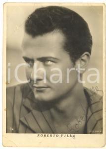 1943 CINEMA Attore Roberto VILLA *Foto seriale con AUTOGRAFO DANNEGGIATA