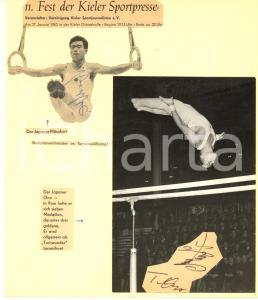 1962 SPORT ATHLETICS JAPAN Takashi ONO - Takashi MISTUKURI *SIGNED photo collage