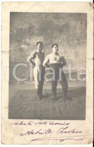 1915 ca MILANO PUGILATO Achille INVERARDI - Foto con AUTOGRAFO DANNEGGIATA