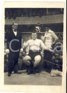 1925 ca ROMA BOXE Società GIAMPAOLI con pugile sul ring *Foto DANNEGGIATA