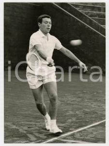 1957 MILANO TENNIS Coppa Davis - Nicola PIETRANGELI vs Sven DAVIDSON *Foto 13x18