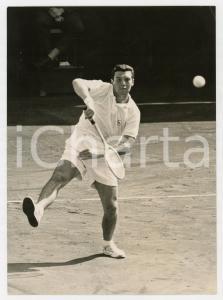 1957 MILANO TENNIS Coppa Davis - Nicola PIETRANGELI vs Ulf SCHMIDT *Foto 13x18