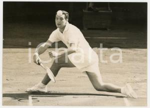 1957 MILANO TENNIS Coppa Davis - Nicola PIETRANGELI vs Ulf SCHMIDT *Foto