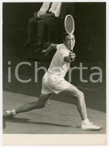 1958 MILANO TENNIS Coppa Davis - Nicola PIETRANGELI in campo durante una partita