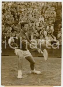 1956 ROLAND GARROS Coppa Davis - Nicola PIETRANGELI vs Paul REMY *Foro 13x18 cm