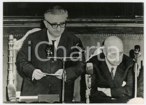1963 ROMA SENATO Fiducia al governo LEONE I - Giovanni LEONE e Attilio PICCIONI