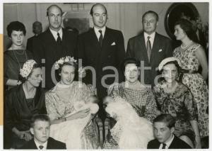 1958 VERSAILLES - Battesimo principi Dimitri e Michele DI JUGOSLAVIA *Foto 18x13