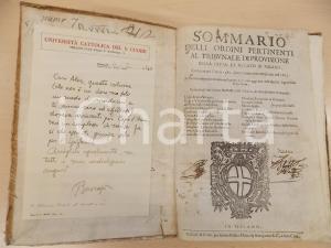 1657 MILANO Sommario ordini pertinenti al Tribunale di Provisione *BASCAPE'
