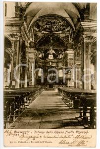 1904 CRAVEGGIA (VB) Interni Chiesa Santi Giacomo e Cristoforo *Cartolina FP VG
