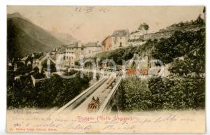 1904 CRAVEGGIA - VOCOGNO (VB) Trasporto del legname *Cartolina ANIMATA FP VG