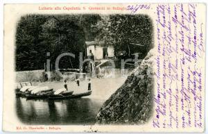 1904 BELLAGIO - SAN GIOVANNI (CO) Latteria alla Cappelletta - Scorcio con barche