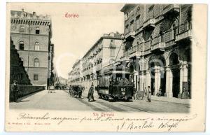 1904 TORINO Via Cernaia - Tram 91 percorre la Linea dei Viali *Cartolina FP VG