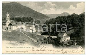 1905 SANTA MARIA MAGGIORE - CRANA (VB) Scorcio del paese *Cartolina ANIMATA FP