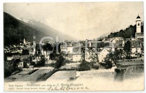 1905 SANTA MARIA MAGGIORE (VB) Veduta panoramica da PRESTINONE *Cartolina FP VG