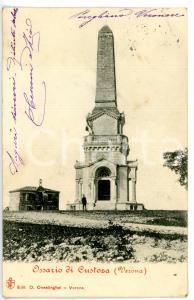 1904 SOMMACAMPAGNA - CUSTOZA (VR) Veduta dell'Ossario *Cartolina ANIMATA FP VG