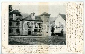 1904 SANTA MARIA MAGGIORE Piazza Risorgimento con casa mandamentale *Cartolina