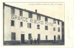 1903 VALLE IMAGNA (BG) Grande albergo del Pertüs *Cartolina ANIMATA FP VG