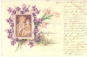 1904 TORINO Cartolina con VERA FOTO Madonna con il Bambino *VINTAGE FP VG