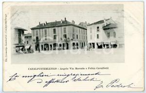 1903 CASALPUSTERLENGO (LO) Angolo tra via MARSALA e via CAVALLOTTI *Cartolina FP
