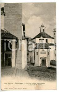 1905 CRAVEGGIA (VB) Scorcio con chiesa di SANTA MARTA *Cartolina FP VG