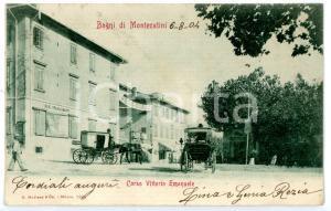 1904 BAGNI DI MONTECATINI (PT) Carrozze in corso Vittorio Emanuele *Cartolina FP