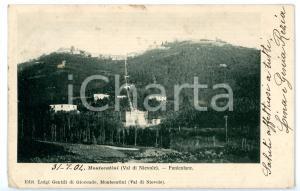 1904 MONTECATINI TERME (PT) Veduta della funicolare *Cartolina VINTAGE FP VG