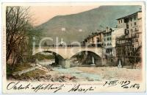 1903 VARALLO (VC) Ponte sul MASTELLONE - Hotel de la Poste *Cartolina ANIMATA FP