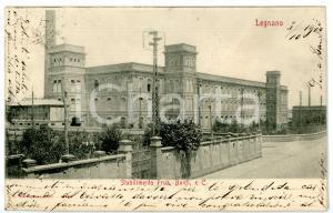 1902 MANIFATTURA DI LEGNANO (MI) Veduta dello stabilimento FRUA *Cartolina FP VG