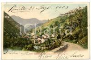 1903 RIMELLA - GRONDO (VC) Veduta panoramica con caseggiato *Cartolina - FP VG