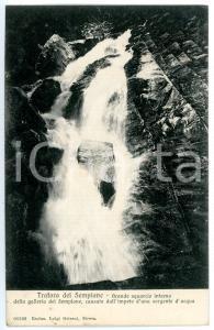 1905 TRAFORO DEL SEMPIONE Squarcio nella galleria *Cartolina FP VG