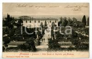 1904 FIRENZE Villa medicea di CASTELLO Veduta con giardino *Cartolina ANIMATA FP