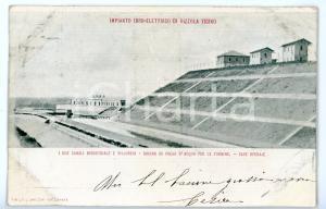 1905 ca VIZZOLA TICINO (VA) Canale VILLORESI e case operaie *Cartolina FP VG
