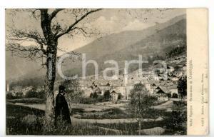 1905 CRAVEGGIA (VB) Parroco contempla il paese *Cartolina FP VG