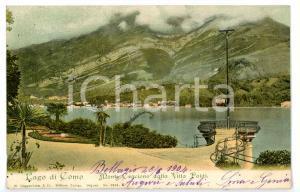 1904 BELLAGIO (CO) Villa POLDI - Balconcino sul lago di COMO *Cartolina FP VG