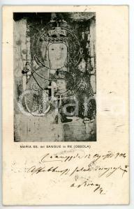 1904 RE (VB) Santuario della Madonna del Sangue - Particolare *Cartolina FP VG