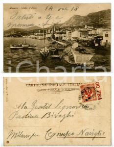 1905 ca LOVERE (BG) Lungolago d'ISEO con barche al molo *Cartolina FP VG