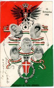 1904 CASA SAVOIA Cartolina per nascita principe ereditario Umberto II FP VG