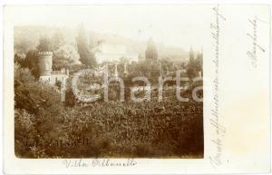 1903 MONCALIERI (TO) Panorama con villa ALBANELLI *Cartolina FP VG