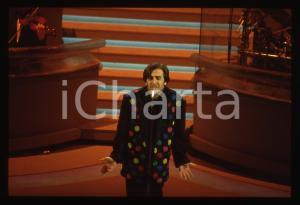 35mm vintage slide* 1992 SANREMO Lorenzo ZECCHINO sul palco del Teatro Ariston 1
