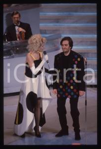 35mm vintage slide* 1992 SANREMO Maria Teresa RUTA e Lorenzo ZECCHINO