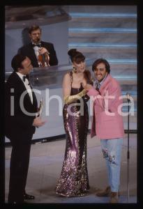 35mm vintage slide* 1992 SANREMO Pippo BAUDO Lorenzo ZECCHINO al Teatro Ariston