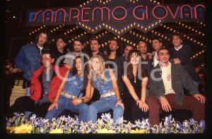 35mm vintage slide*1996 SANREMO GIOVANI Paola e Chiara IEZZI e i concorrenti 1